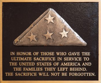 """IMAGE of """"Tribute to The Fallen and Their Families"""" plaque"""