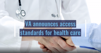 Screen capture of VA video for Proposed Rules for Veteran Community Care