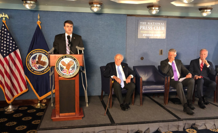 IMAGE of Sec. Wilkie speaking at a new conference
