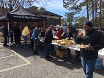 Food was provided during the Veterans Experience Action Center, several Veterans drove from other states to get information and assistance.