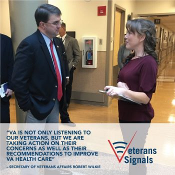 Graphic design of Sec. Wilkie on Veterans Signals