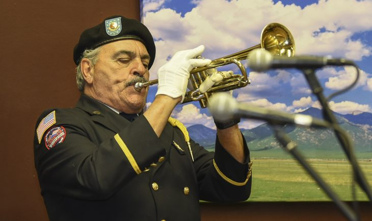 IMAGE of Veteran playing trumpet