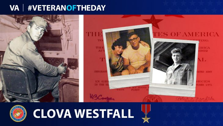 Veteran of the Day graphic for Clova Westfall