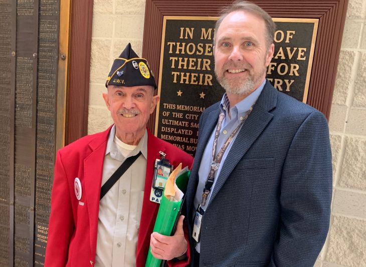 Fred Piess and Bill Browning are Veterans that continue to serve through the VA Voluntary Service program.