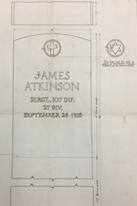 Drawing of early headstone concept
