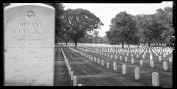 General headstones at Long Island National Cemetery