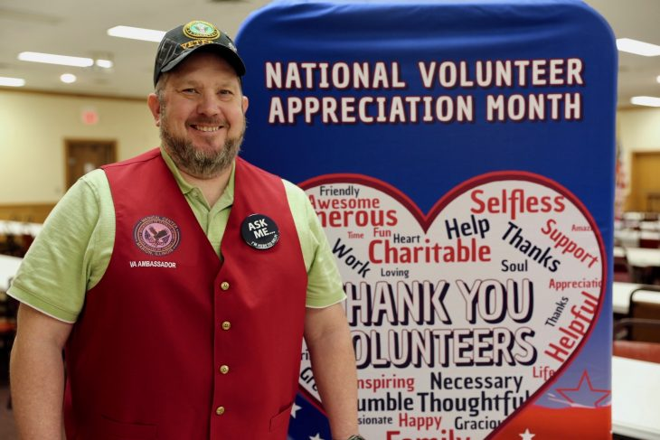 Bruce Glasco served 15 years in the Army and deployed in support of Operation Iraqi Freedom. Bruce retired from active service in 2012 and is now a Red Coat Ambassador at the Marion VA Medical Center in Southern Illinois.
