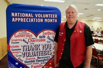 Navy Veteran Larry Clore repaired submarines during the Vietnam war and now spends his days serving Veterans in Harrisburg, Illinois as a Red Coat Ambassador.
