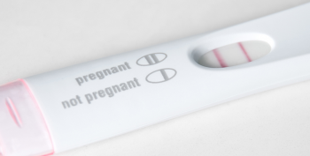 IMAGE: of an home pregnancy test strip