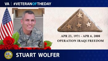 Veteran of the Day graphic for Stuart Wolfer.