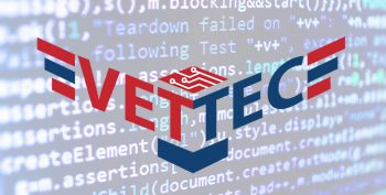 VET TEC design logo graphic