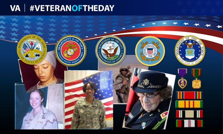 "The Women Veterans of our nation are worthy of recognition. You can continue to honor their service and sacrifices by nominating them to be a Veteran of the Day. Search, ""Nominate Veteran of the Day"" using your web browser for more information, or visit https://www.blogs.va.gov/VAntage/24415/nominate-a-veteran-for-veteranoftheday/ Veterans do not need to meet any other criteria other than having honorably served their country. (VA info graphic by Luis H. Loza Gutierrez)"