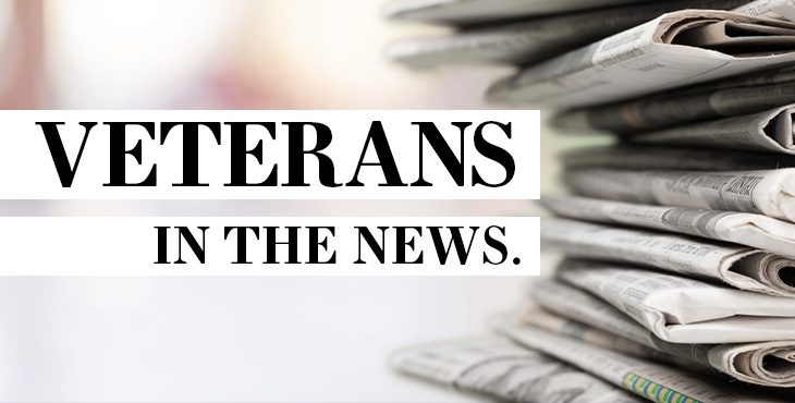 Veterans in the news graphic
