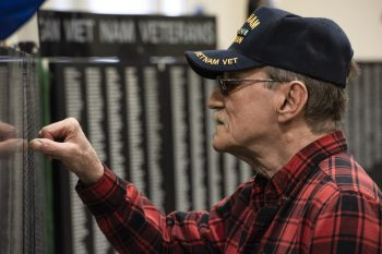 IMAGE of a Veteran at the Michigan Moving Wall