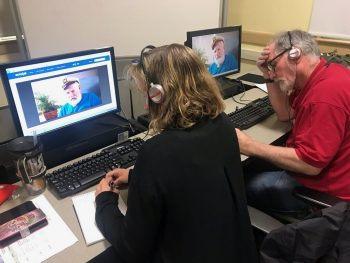 Staff at the Prescott VA learn to document Veteran My Life, My Story events through a filmed interview.