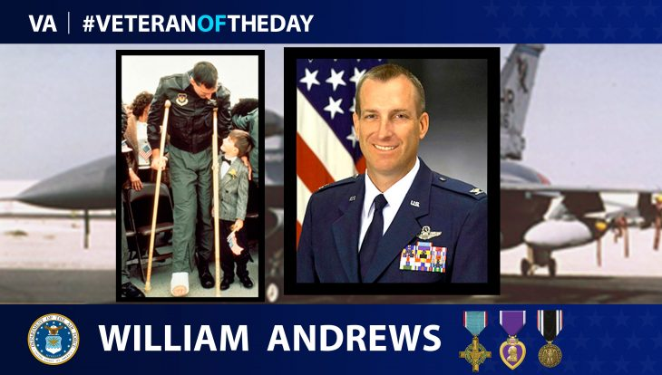 Veteran of the Day graphic for William Andrews.