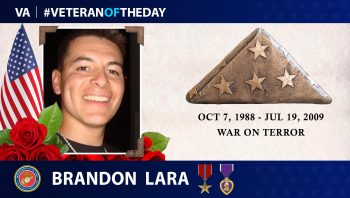 Veteran of the Day Graphic of Brandon Lara
