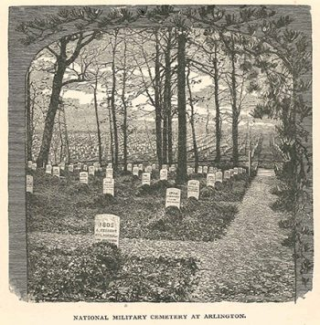 Arlington mounded graves rendition, 1887