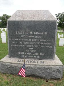 Headstone of Erastus Cravath