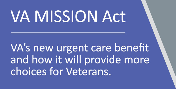 VA MISSION Act: VA's new urgent care benefit for Veterans - VAntage