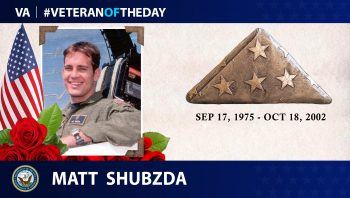 #VeteranOfTheDay Matt Shubzda