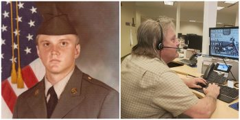 Rodney Graduating Army Basic training and on the phone with a Veteran at the White/House VA Hotline