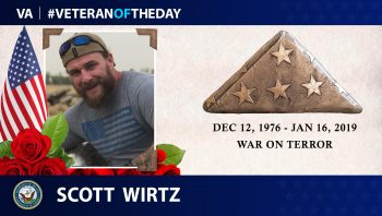 Veteran of the Day graphic for Scott Wirtz