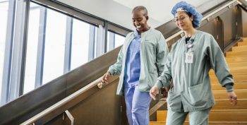 VA nurses in scrubs