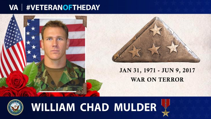 #VeteranOfTheDay William Chad Mulder