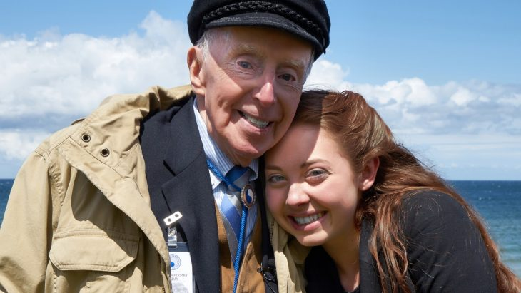 Veteran Don McCarthy with documentary Director Charlotte Juergens.