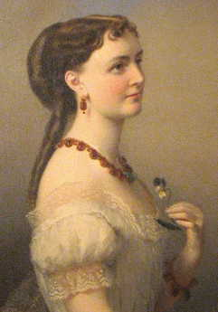 Painting of William Corcoran's daughter, Louise Morris Corcoran