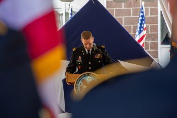 Rededication ceremony for Maj. Brent Taylor.