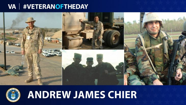 Veteran of the Day graphic for Andrew James Chier.