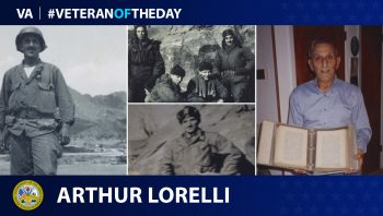 Army Veteran Arthur Lorelli served in WWII, Korea, and Vietnam.