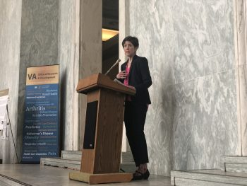 VA's Dr. Carolyn Clancy spoke at the VA Research Day on the Hill.