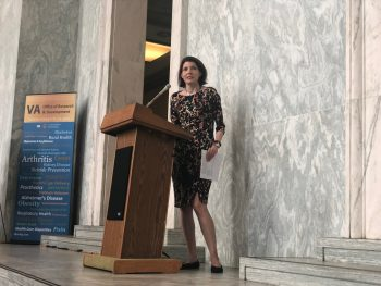 Dr. Rachel Ramoni spoke at the VA Research on the Hill day.