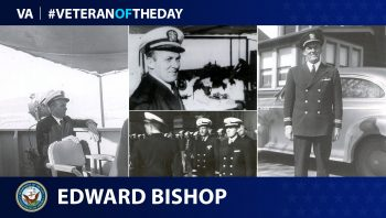 Veteran of the Day graphic for Edward Bishop.