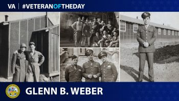Veteran of the Day graphic for Glenn B Weber