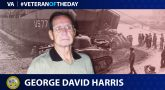 Veteran of the Day graphic for George David Harris.