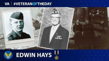 Veteran of the Day graphic for Edwin Hays.