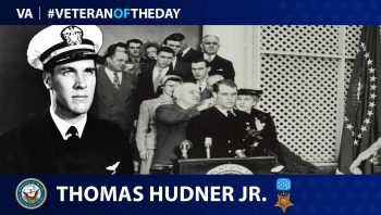 Veteran of the Day graphic for Thomas Hudner Jr.