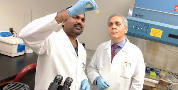 Drs. Rakesh Meka (left) and Kamal Moudgil