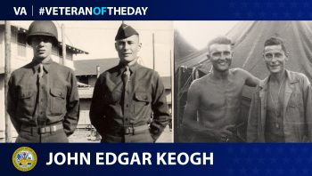 Veteran of the Day graphic for John Edgar Keogh.