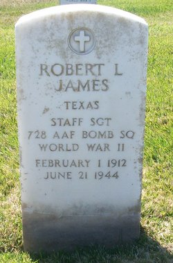 Grave marker for Ssgt. Robert L. James at Golden Gate National Cemetery.