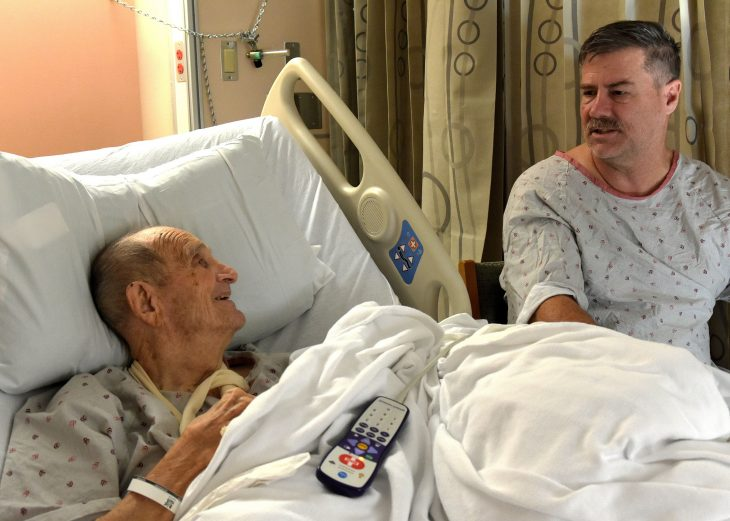 Two in-patient Vets at VA North Texas become friends