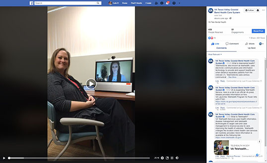 To learn more about VA TeleMental Health, please click on image to view and listen to video featuring VA psychologists Dr. Jina Jensen and Dr. Megahn Von Linden. (Screen shot)