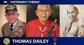 Veteran of the Day graphic for Thomas Dailey.
