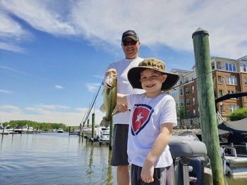 Military Kid goes fishing with UHL Outdoors
