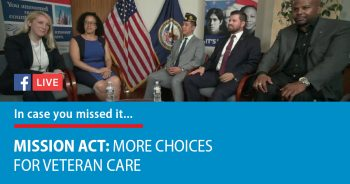 VA held an #ExploreVA Facebook Live event to discuss the MISSION Act.