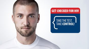 Young man with HIV graphic